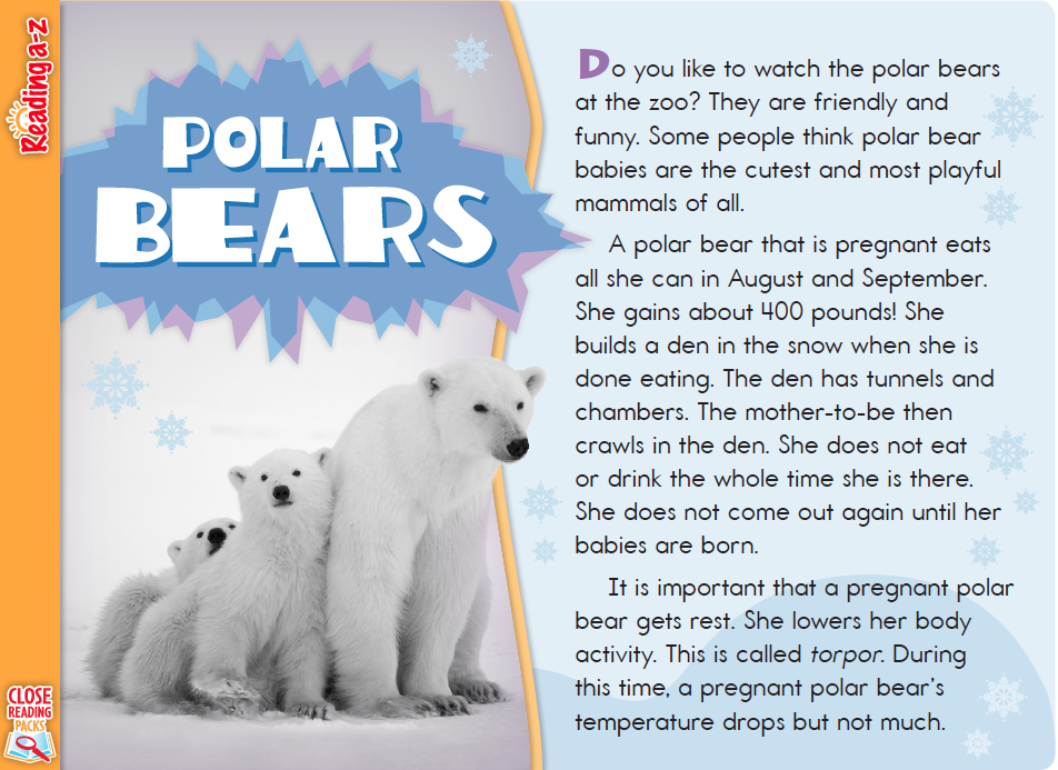 Information Text Polar Bears K-2 - EdTeching in the EP